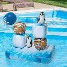 SCS Direct Inflatable Swimming Pool Game - Floating Stack 'N Splash Penguins - B