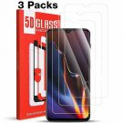 [3 Pack] MEGIVEZ Compatible OnePlus 6T Screen Protector, Tempered Glass [Bubble