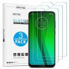 Moto G7 Screen Protector, OMOTON Tempered Glass Screen Protector Compatible with