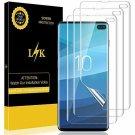 LK [3 Pack] Screen Protector for Samsung Galaxy S10 Plus, LiquidSkin [HD Clear][