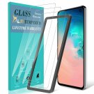 TAURI [3Pack] Screen Protector for Samsung Galaxy S10e, Tempered Glass [Bubble