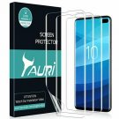 TAURI [3Pack] Screen Protector for Samsung Galaxy S10 Plus, Wet Application Scr