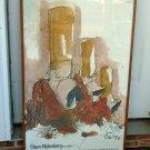 CLAES OLDENBURG Denver Art Museum Poster, 1975, signed, framed FREE SHIPPING