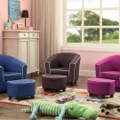 Joshua Kids Club Chair and Ottoman