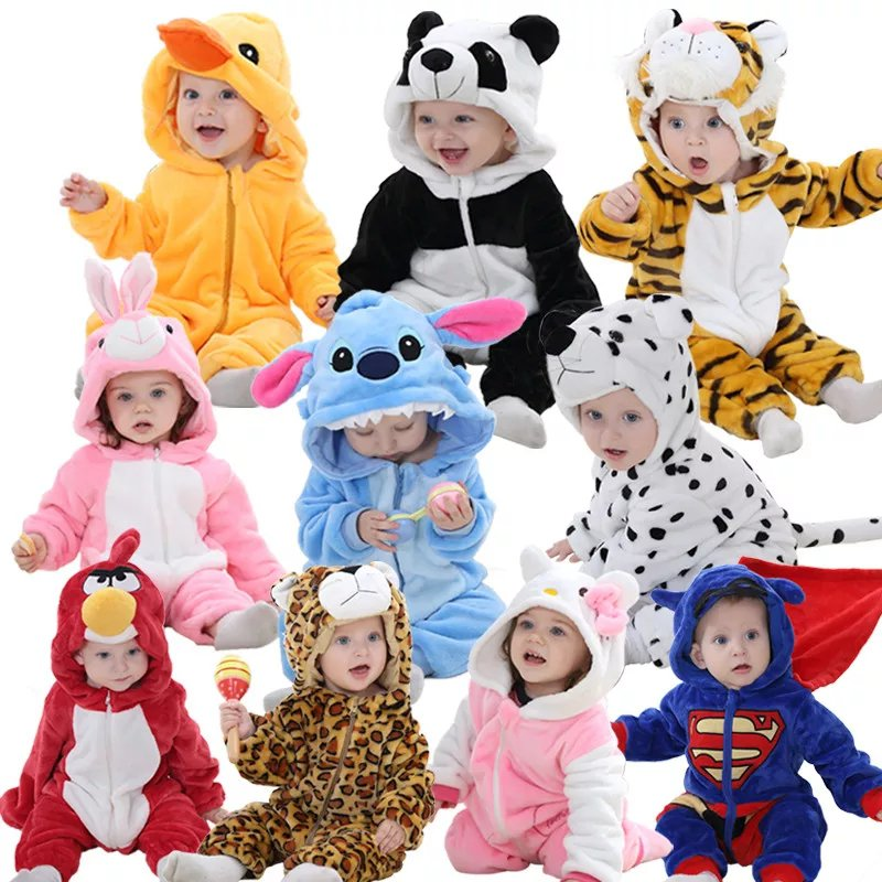 Baby Animal Onesie Romper Costumes - Unisex Cute Hooded Cartoon Outfits