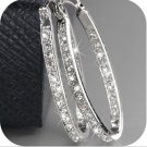 Elegant Fashion 925er Sterling Silver / Yellow/Gold Hoop Earrings