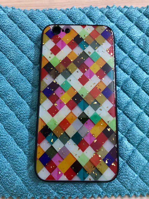 Soft case mosaic for iphone 6 6s colorful patterned kite Golden Flakes Brand New