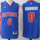 Men's Detroit Pistons #0 Andre Drummond stitched basketball jersey blue S-2XL