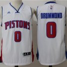 Men's Detroit Pistons #0 Andre Drummond stitched basketball jersey white S-2XL