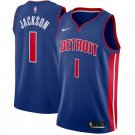Men's #1 Reggie Jackson Detroit Pistons Swingman Jersey Blue - Icon Edition S-2XL