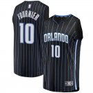 Men's #10 Evan Fournier Orlando Magic Swingman Jersey Black - Statement Edition S-2XL