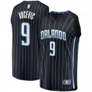 Men's #9 Nikola Vucevic Orlando Magic Swingman Jersey Black - Statement Edition S-2XL