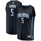 Men's #5 Mohamed Bamba Orlando Magic Swingman Jersey Black - Statement Edition S-XXL
