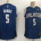 Men's Orlando Magic 5# Mohamed Bamba Blue Stripe Basketball Jersey S-XXL