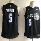 Men's Orlando Magic #5 Mohamed Bamba Black Basketball Jersey Stitched S-XXL