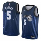 Men'S Navy Orlando Magic #5 Mohamed Bamba Jersey City Edition