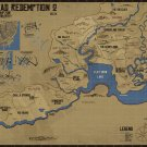 Red Dead Redemption 2 Map 24x18 Poster