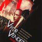 V For Vendetta Advance Version D Original Movie 36x24 Poster Single Sided 27 X40