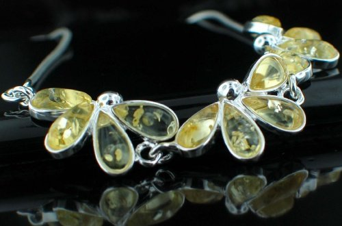 SALE!! - Baltic Amber in Silver Necklace