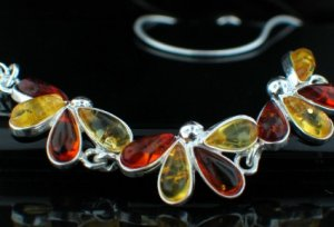 SALE!! Baltic Amber in Silver Necklace