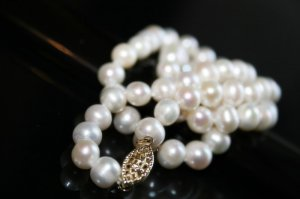 SALE!! - Genuine Fresh Water White Pearls Necklace with 14K Gold Clasp