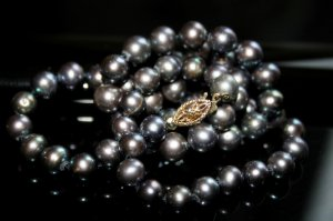 SALE!! - Genuine Black Akoya Pearls Necklace