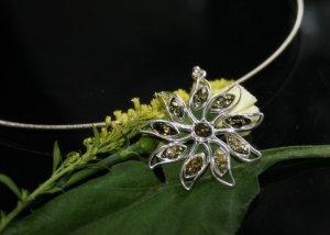 SALE - Baltic Amber pendant (green)