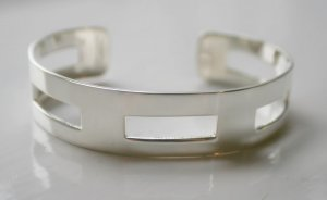 SALE!! - Genuine 925 Sterling Silver Cuffs (Bangles) - Modern Cuff