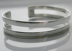 SALE!! - Genuine 925 Sterling Silver Cuffs (Bangles) - 2 Strand