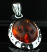 SALE!! - Genuine Baltic Amber with Silver Snake Chain necklace