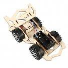 Creative educational electric Wooden car Model Puzzle Kids DIY Vehicle Children