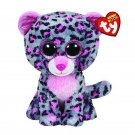 Ty Beanie Boos Stuffed & Plush Animal Colorful Purple Leopard Toy Doll With Tag