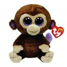 """Ty Beanie Boos Stuffed & Plush Animal Colorful Brown Monkey Toy Doll With Tag 6"""""""