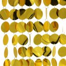 Yellow Round Circle Disco Curtain Festival Party Supplies Decorative Curtains