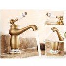 Antique Bronze Faucet Hot Cold Water Mixer Tap Bathroom Kitchen Sink Water Crane