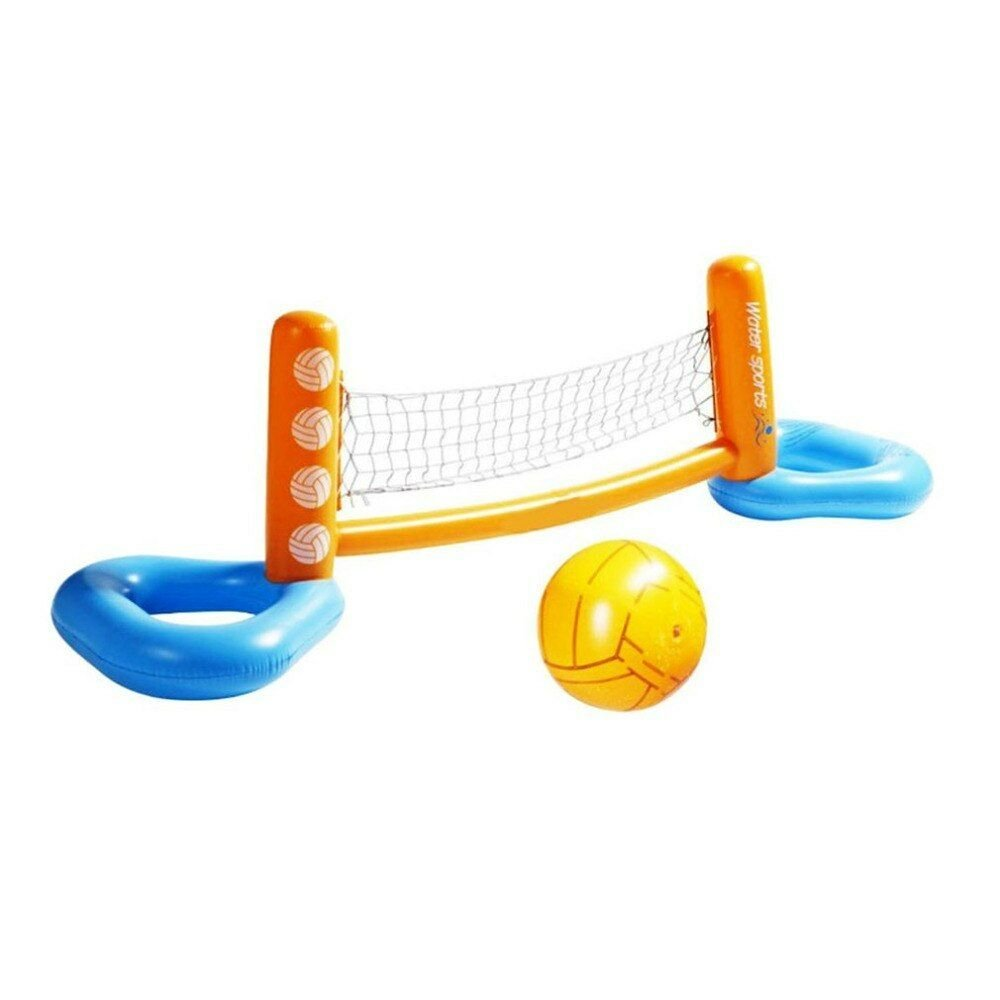 Inflatable Pool Floating Volleyball Net Beach Basketball Water Football Toy Game