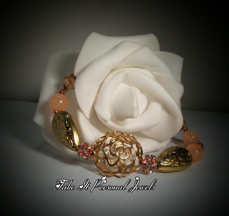 Gold Rose Bracelet