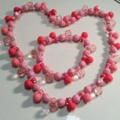 Children's Jewelry Kid's Pink Charm Necklace/Bracelet set
