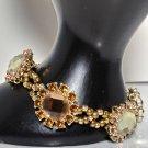 Gold bracelet-  Crystal Bracelet - rhinestones handmade bracelet