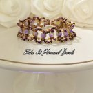 Gemstone Bracelet - Purple Agate beads - Crystals beaded Handmade Fashion Bracelet