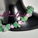 Gemstone Jewelry- Agate beads Handmade Bracelet - Aventurine Gemstones