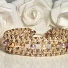 Fashion Pearl jewelry - Crystal and Pearl Bracelet Handmade
