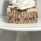 Fashion Crystal and Pearl Jewelry - Purple Pearl Bracelet - Handmade Jewelry