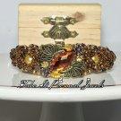 Gold Bracelet - Fashion Rhinestone Jewelry - Pearl Bracelet