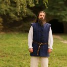 Medieval Gambeson Blue padded Jacket COSTUMES DRESS Vest Best Clothing Dress