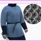 Medieval Aluminium Chainmail Shirt Butted Chain Mail Role Play Armour XL Size NK