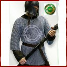 Medieval Viking Aluminium Butted Chain mail Shirt Costume For Armor Reenactment