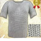 Medieval Viking Aluminium Butted Chain mail Shirt For Armor Reenactment