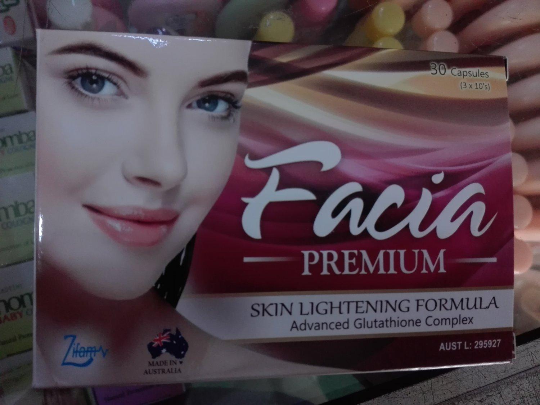 Facia Premium most powerful antioxidant Glutathione & other ingredients for skin