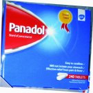 500mg Paracetamol (PANADOL) Fast Pain & Fever Relief - 240 Tablets